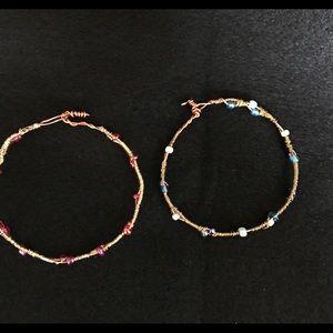 Handmade Wire Bangle Bracelets